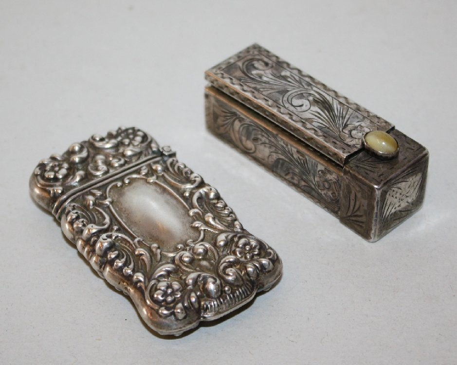 Lot of 2 sterling pieces: lipstick case & lighter case