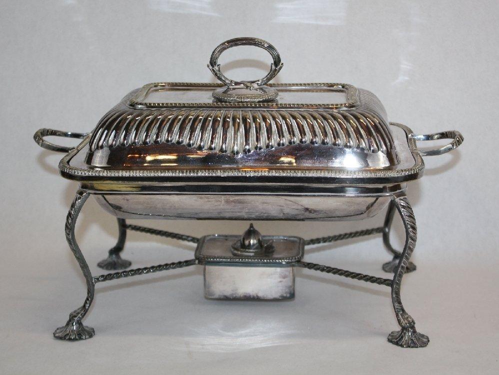 Mappin & Webb silverplate lidded serving tureen