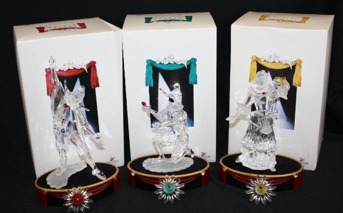 Lot of 3 Swarovski crystal figures