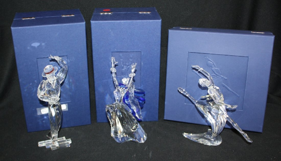 Lot of  3 Swarovski crystal figures.