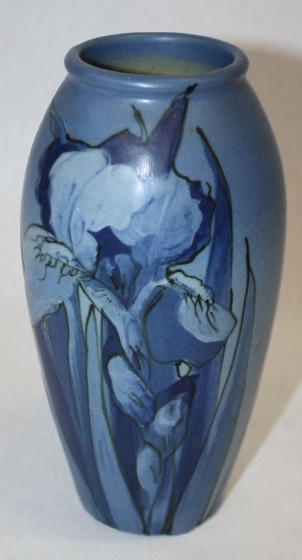Weller Hudson  Iris vase signed McLaughlin