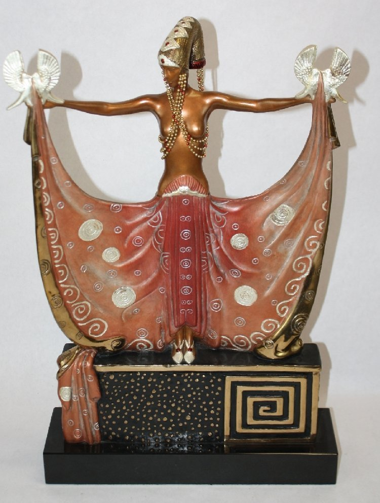 Erte signed bronze sculpture Venus, 1987. 255/375