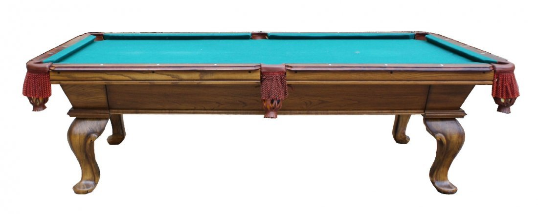 Peter Vitalie 8u0027 Slate Top Pool Table In Oak Case