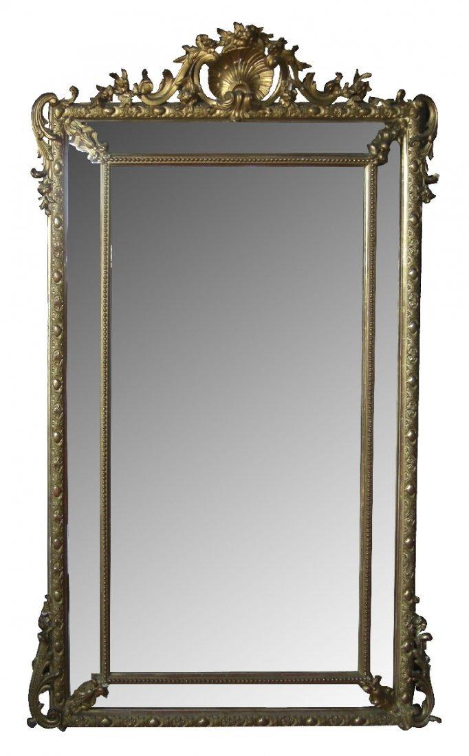 19th century French gold leaf mirror
