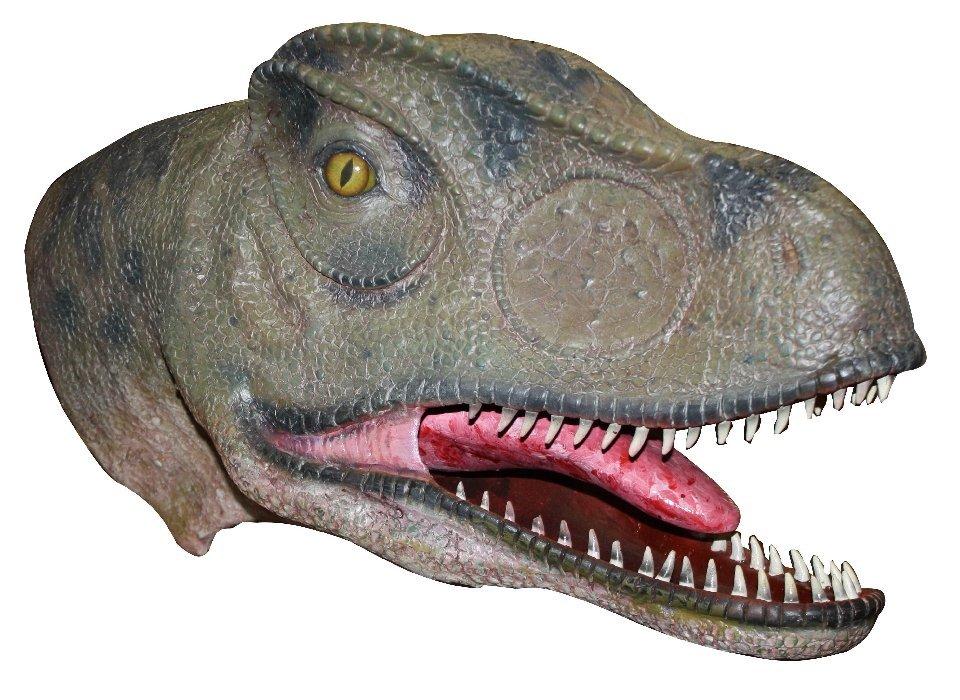 Allosaurus dinosaur head movie prop
