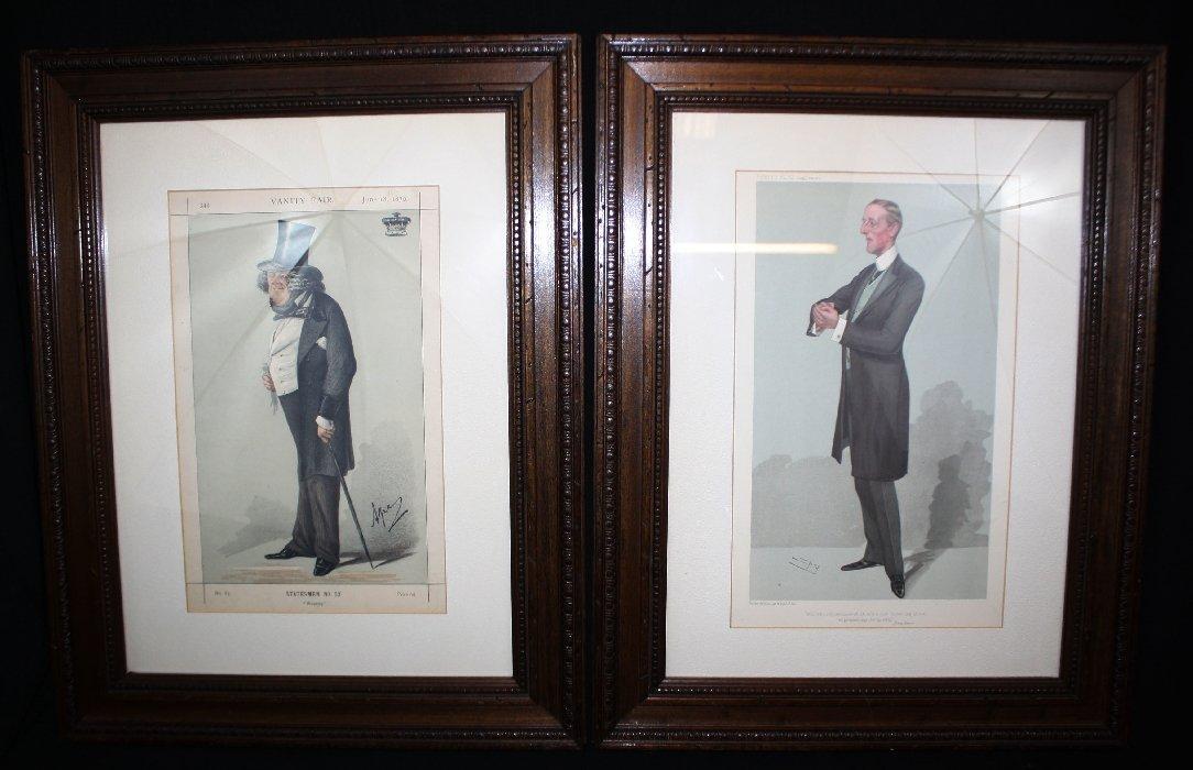 Set of 2 Vanity Fair lithographs