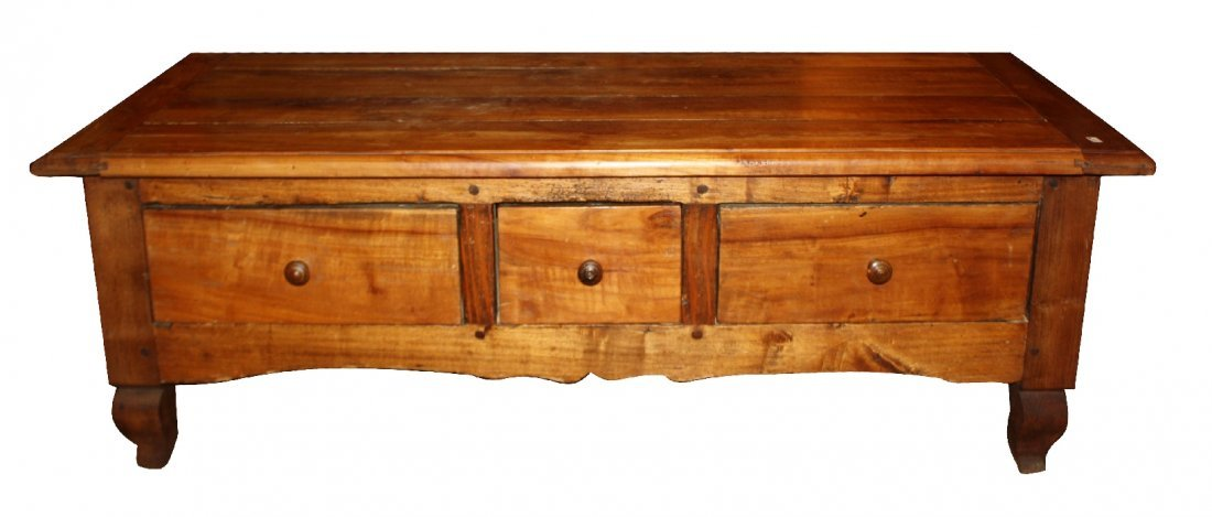French Provincial 3 drawer coffee table in cherry