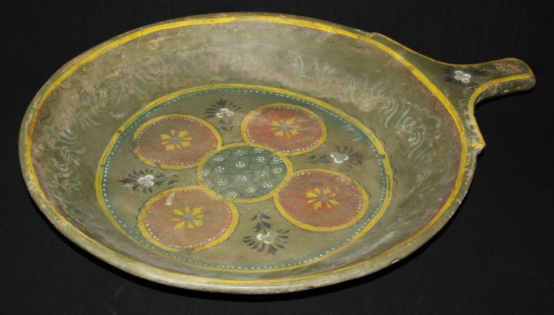 Antique glazed terra cotta bowl