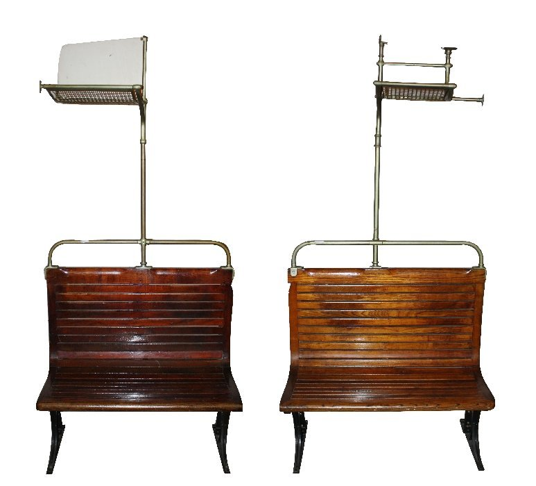 A pair of rare Paris metro benches by Cantin Coulard