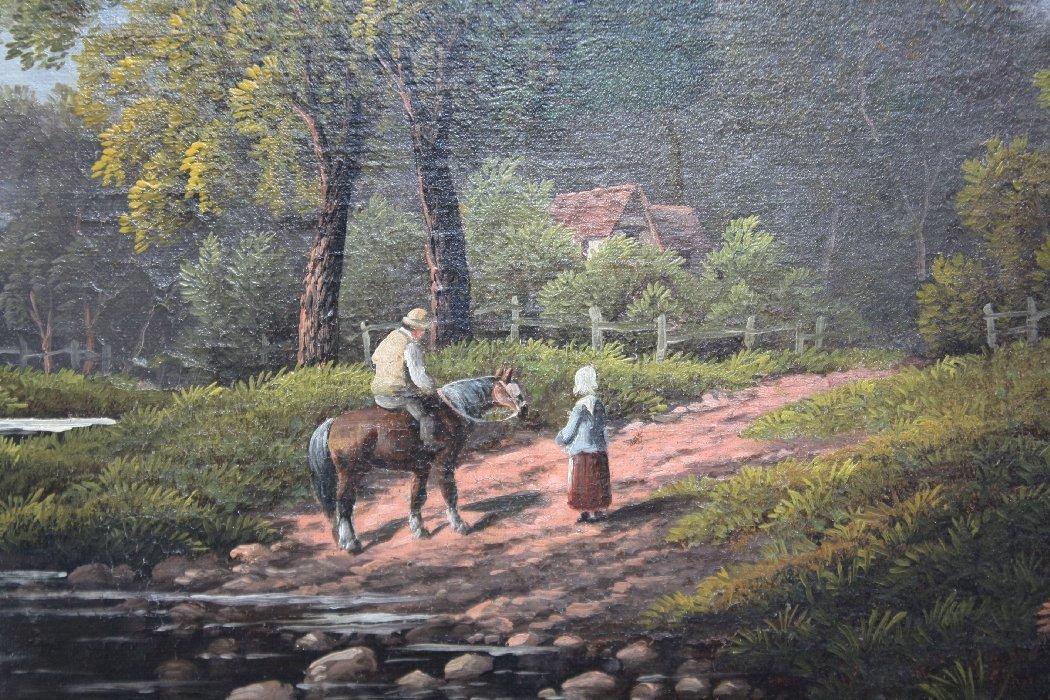 Oil on canvas signed E. Horton (Etty Horton 1882-1905) - 2