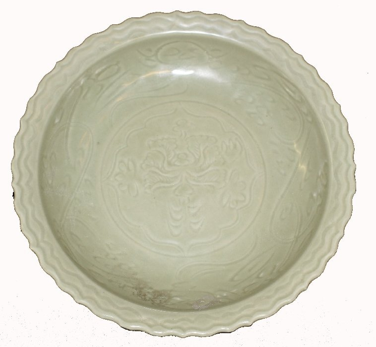Chinese celadon glazed charger