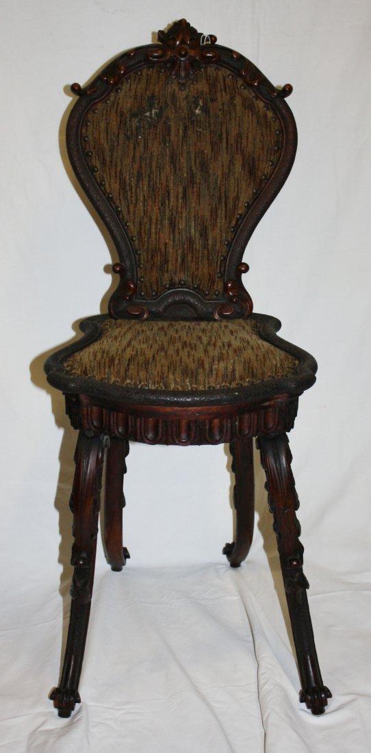 Late 19th century Swiss hall chair