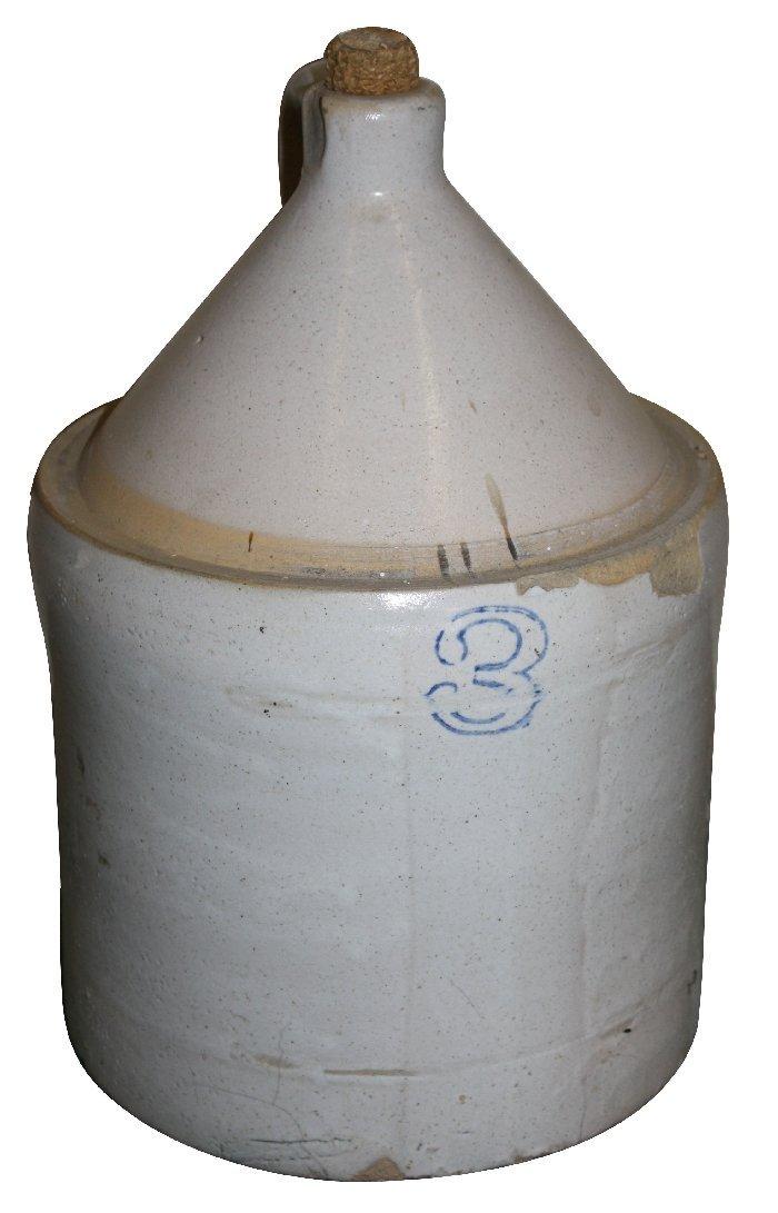 American 3 gallon stone wear jug with handle
