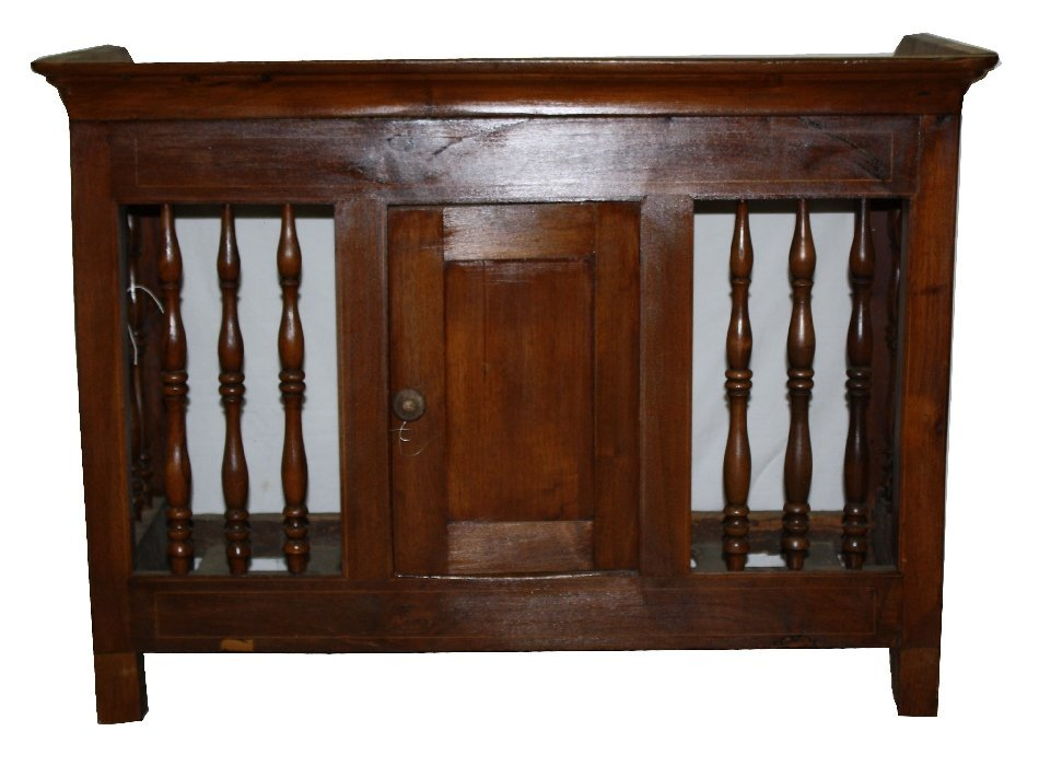 French Provincial wall hanging panetiere in walnut