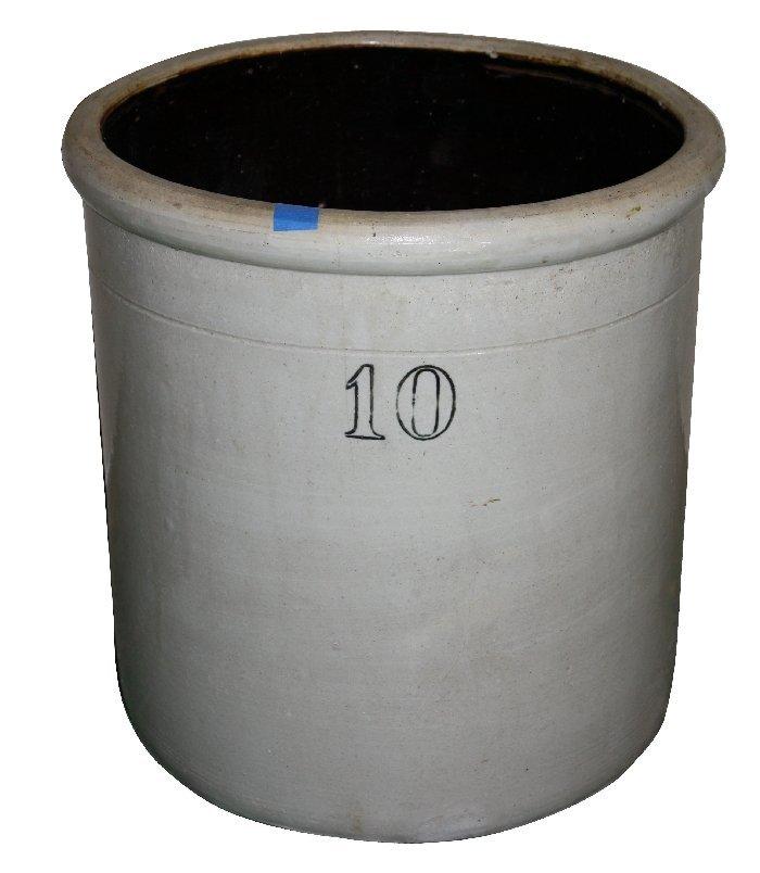 American 10 gallon stone ware crock
