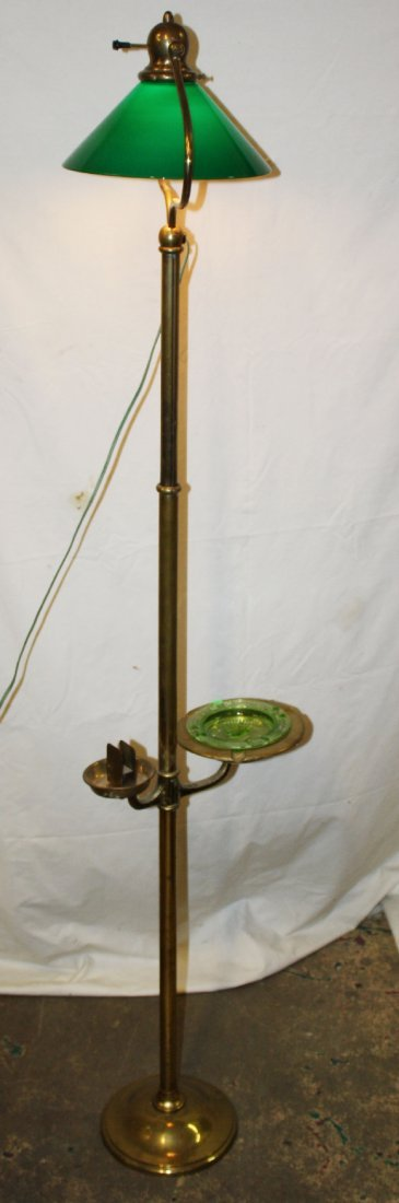 Vintage brass cigar lamp with ashtray