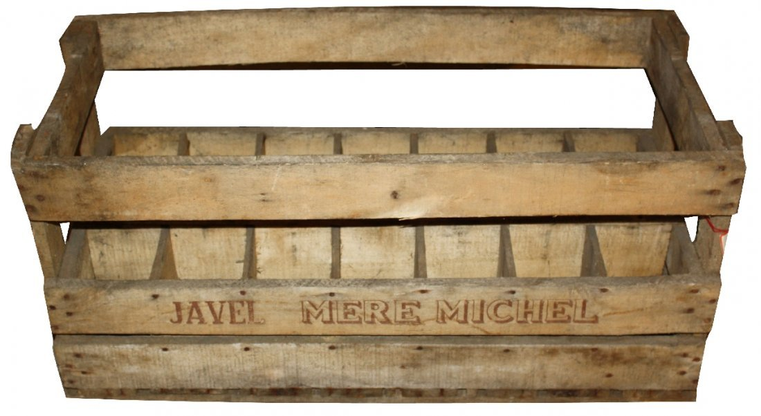 Vintage French wooden wine crate