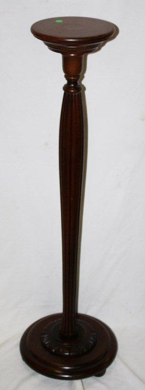 Tall mahogany plantstand