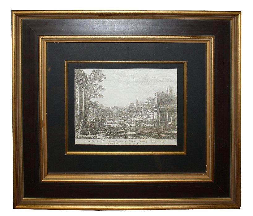Claude Gellee (aka Claude Lorraine) etching