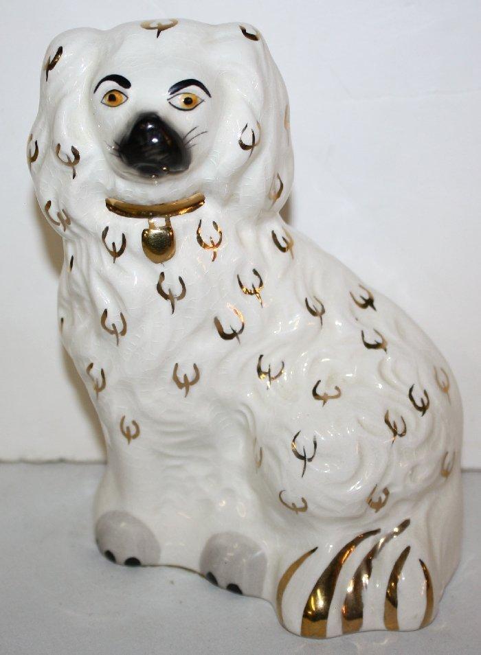 English Staffordshire dog marked JWC