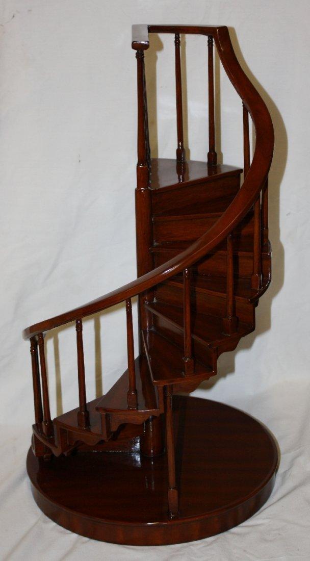 Maitland Smith miniature mahogany spiral staircase