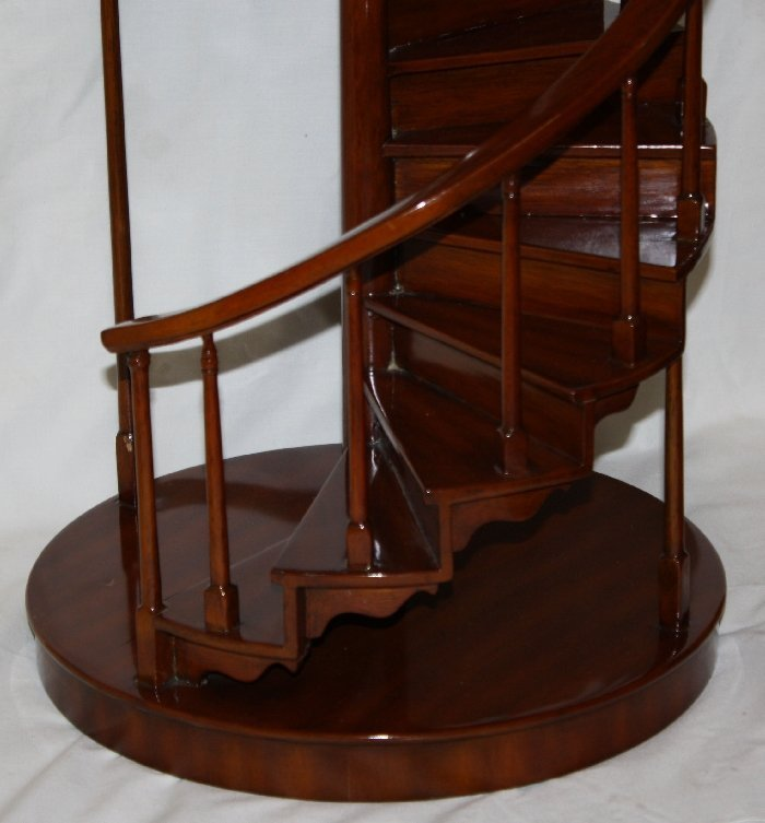 Maitland Smith miniature mahogany spiral staircase - 2