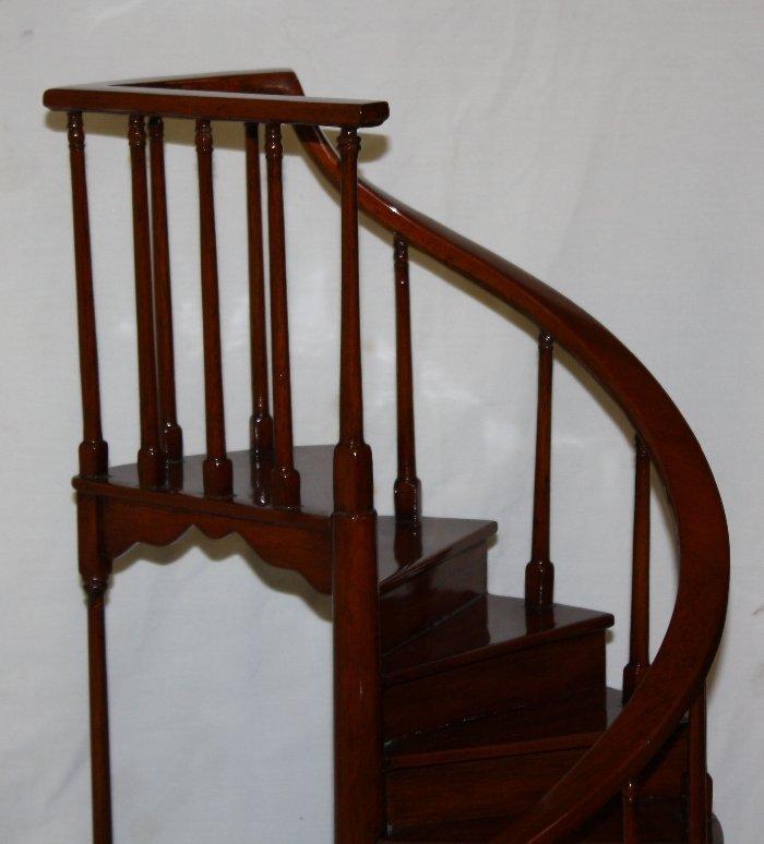 Maitland Smith miniature mahogany spiral staircase - 3