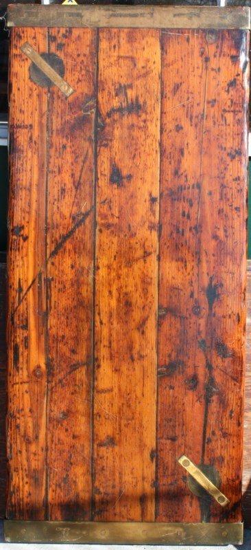Vintage rectangular ship hatch cover
