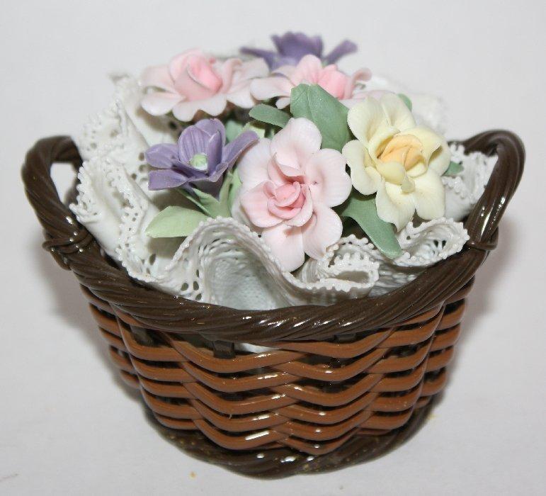 Lladro porcelain statue Flower basket