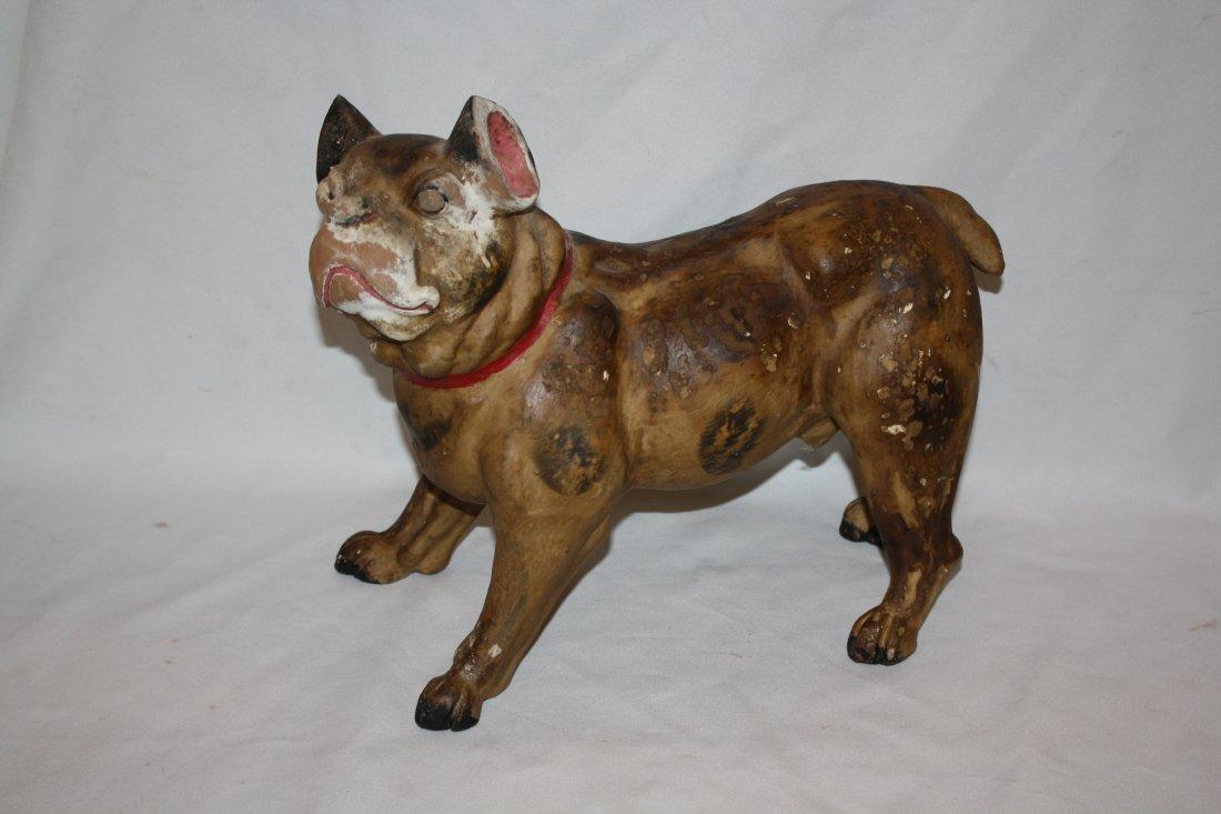 Painted terra cotta dog statue-French bulldog