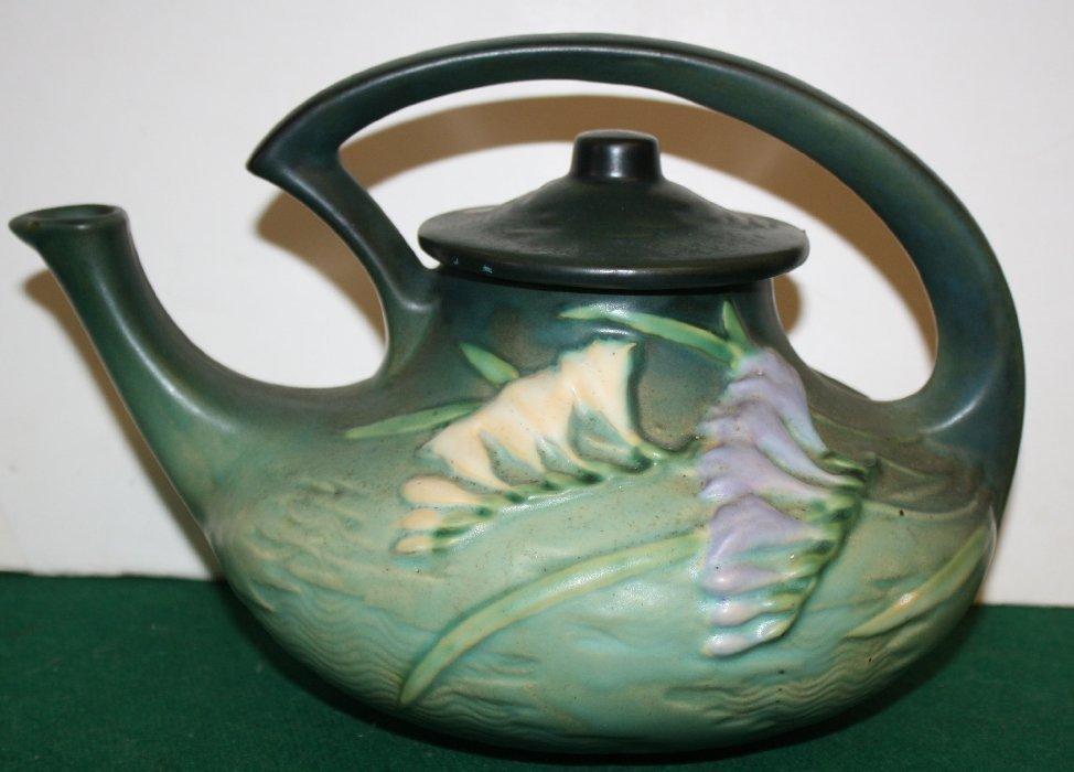 Roseville Art Pottery Freesia teapot