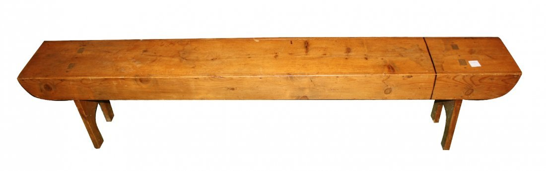 Rustic pine backless bench
