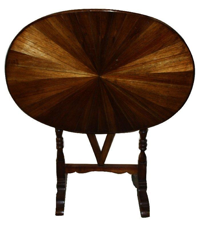 French tilt-top petite wine table in walnut
