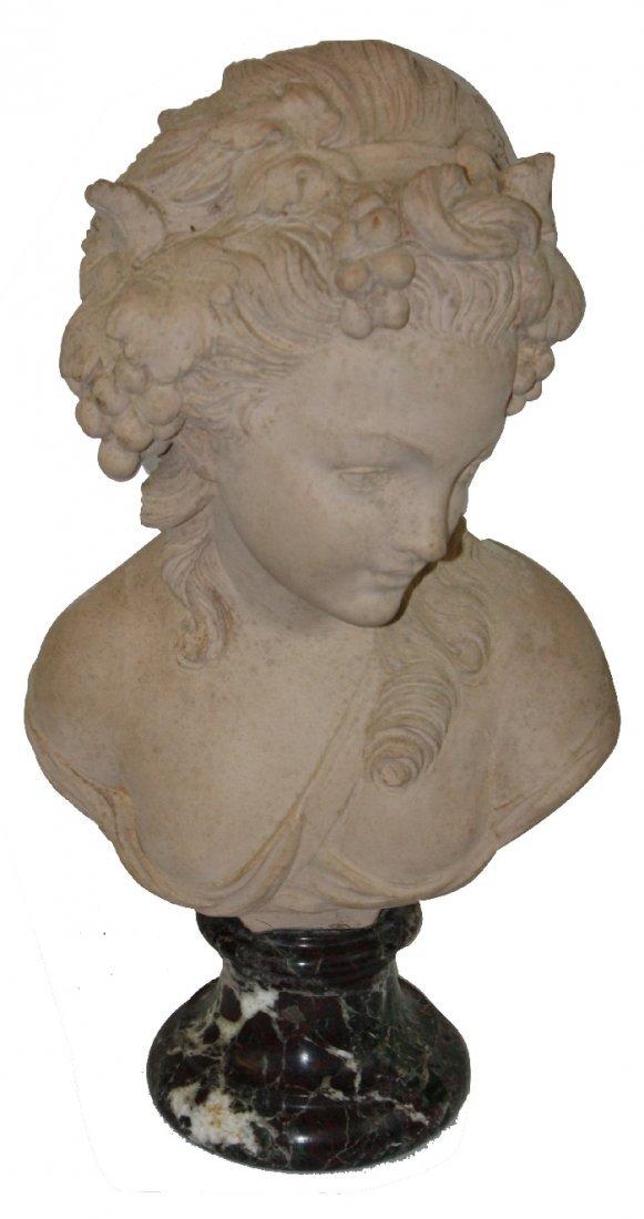 Terra cotta bust marked Studio Prof. G. Bessi