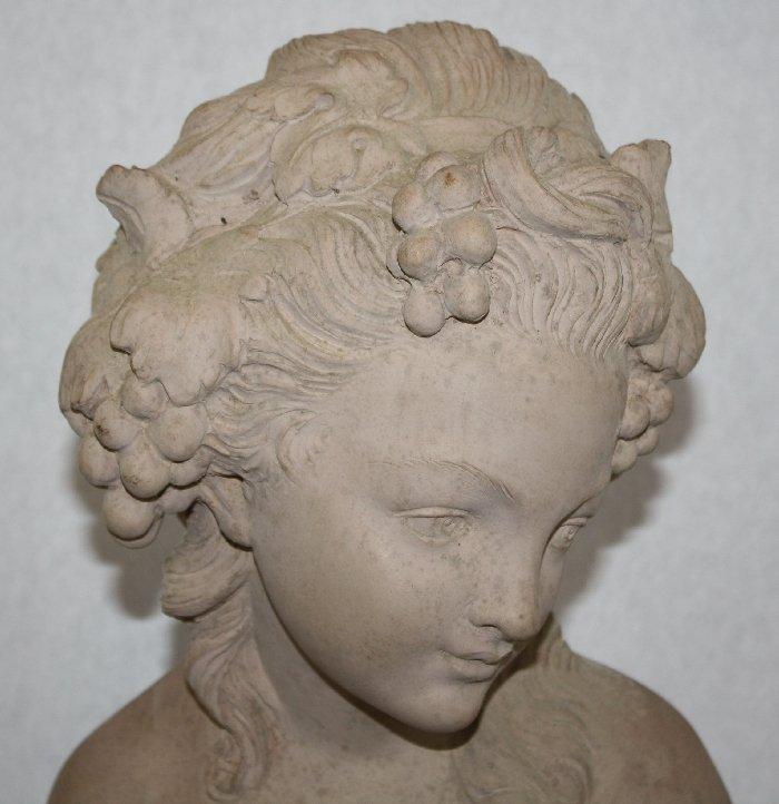 Terra cotta bust marked Studio Prof. G. Bessi - 3