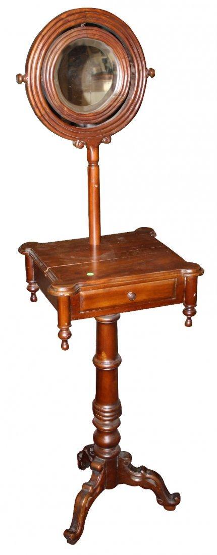 American Victorian shaving stand in mahogany
