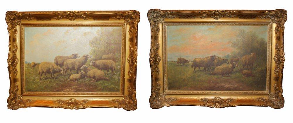 Henry Schouten (1864-1927) Lot of 2 oil on canvas