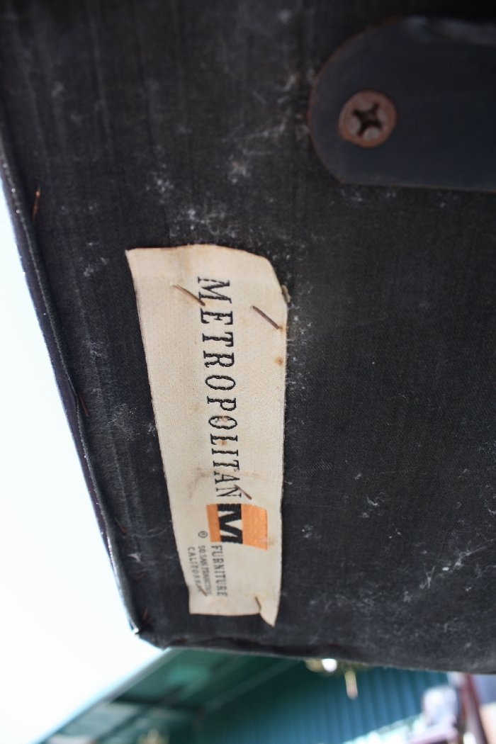 Vintage Metropolitan Furniture Corp leather desk chair - 2