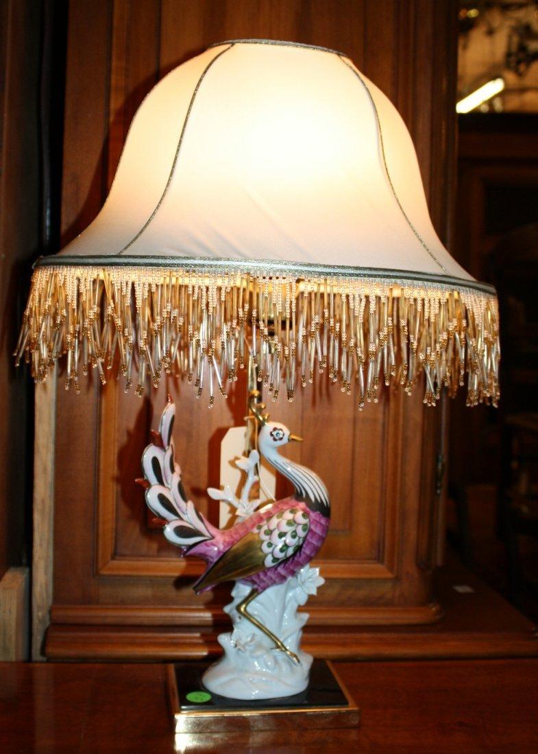 Italian porcelain lamp -artistica le porcellane