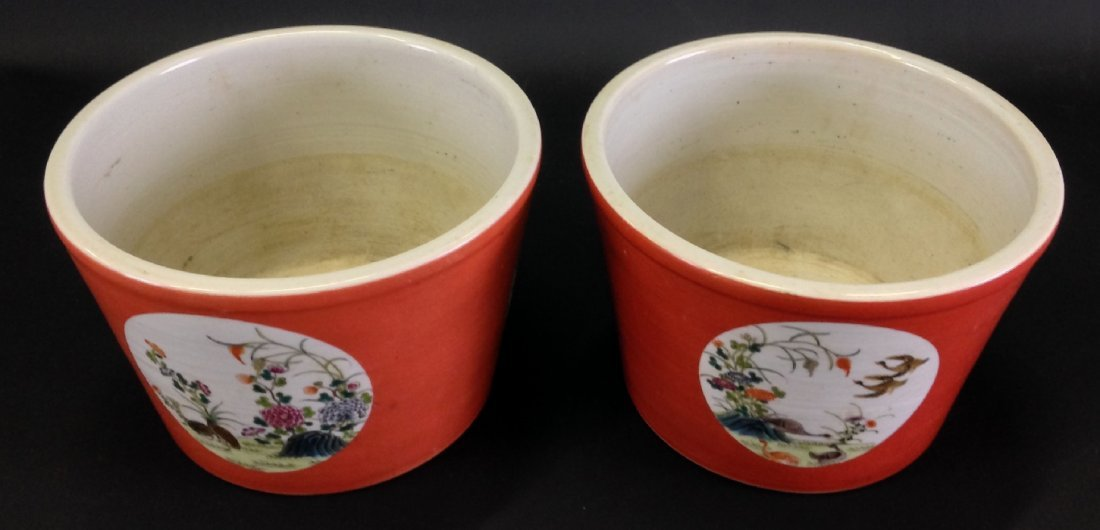 Pair of Chinese Porcelain Jardinieres