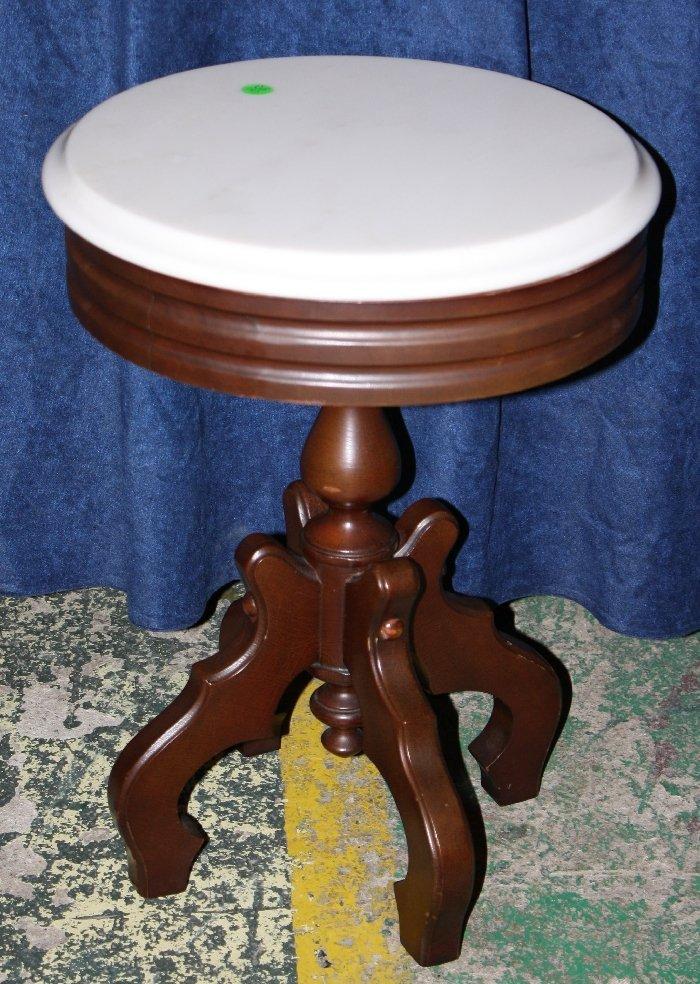 East Lake style mahogany pedestal