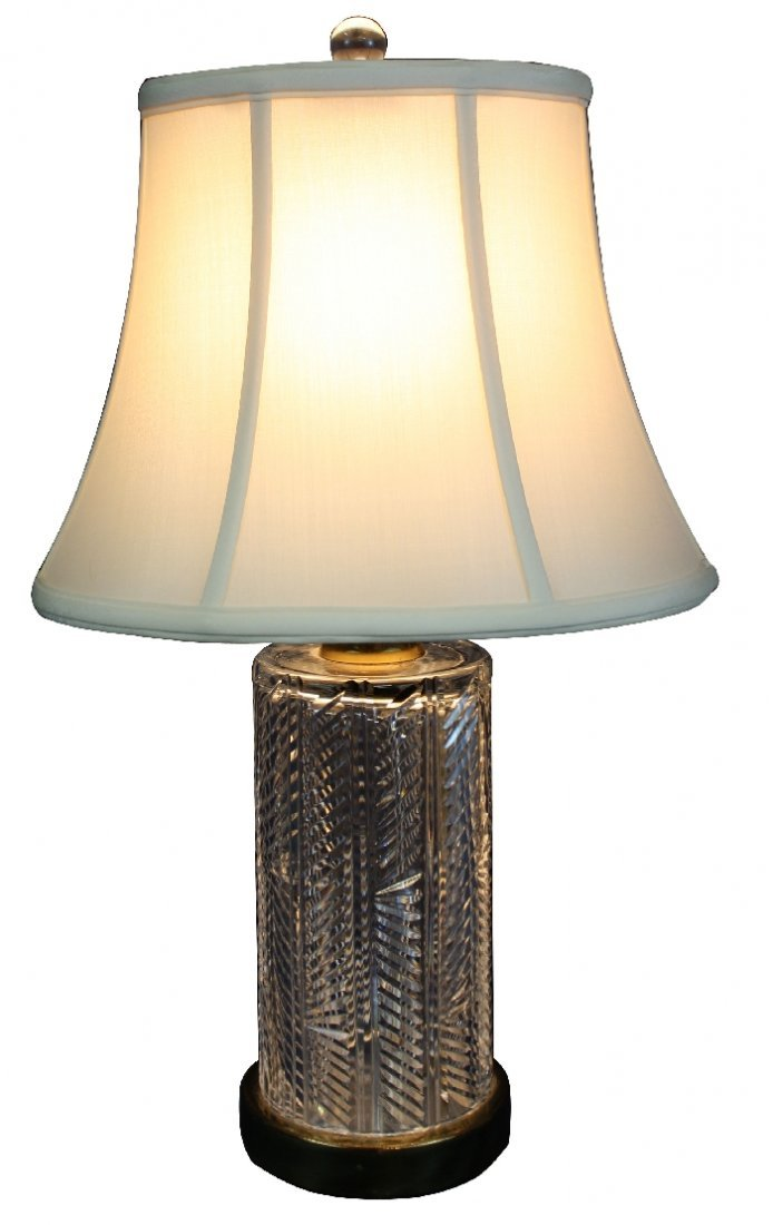 Waterford cut crystal table lamp