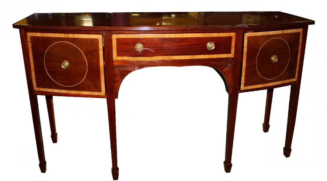 Sheraton style mahogany sideboard