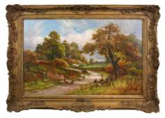 Oil on canvas landscape Robert John Hammond