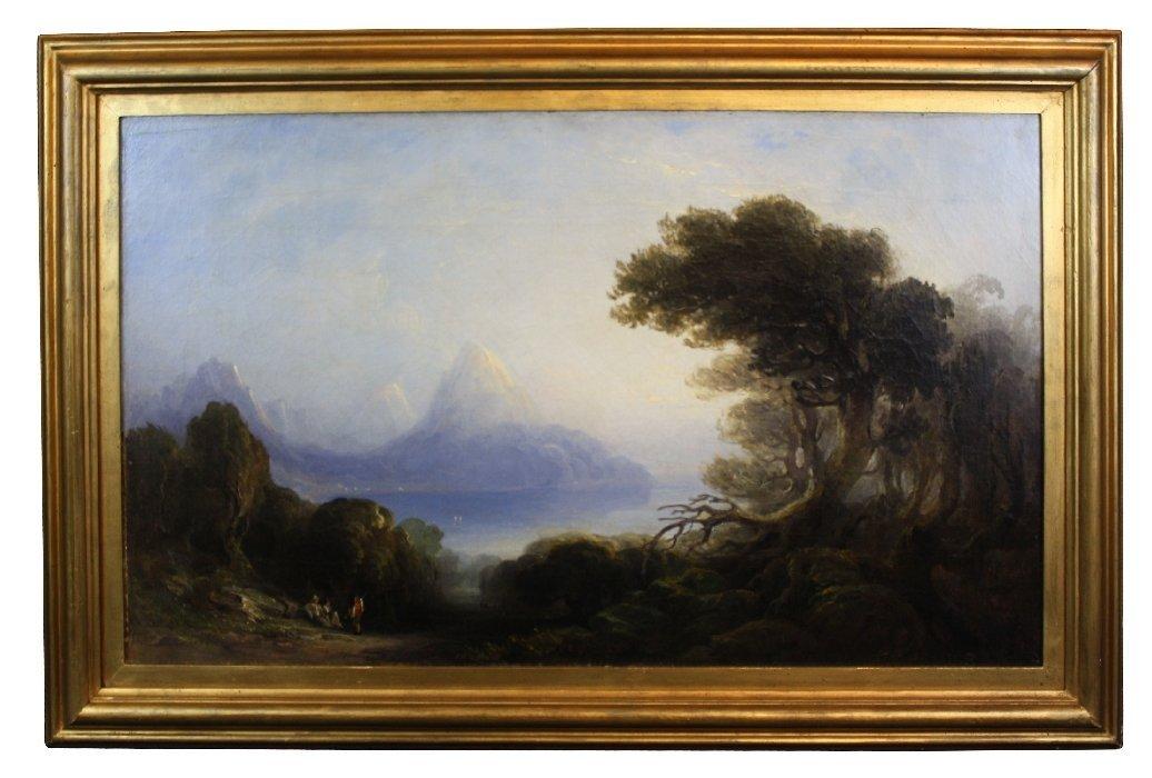Oil on canvas landscape Thomas Gray Hart