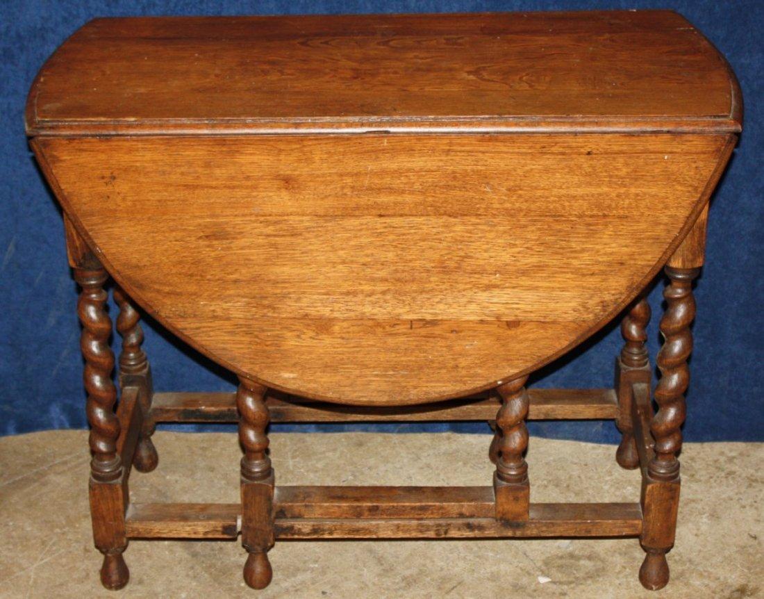 English oak oval dropside gate leg pub table