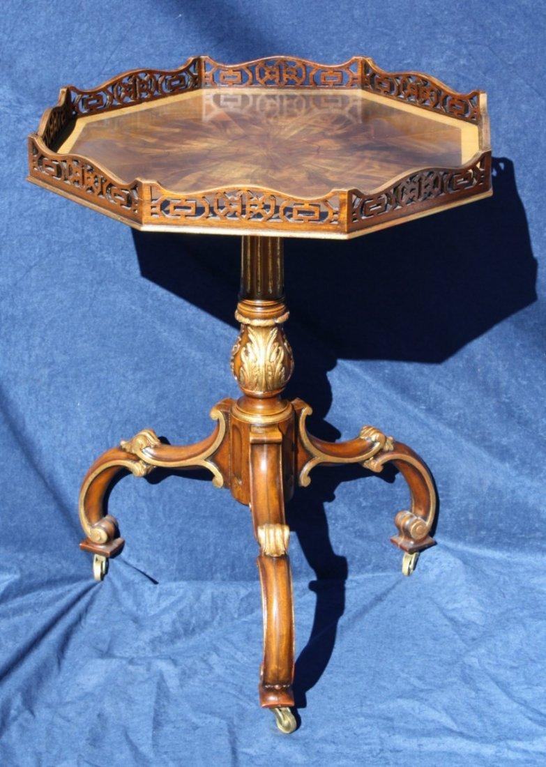 Octagonal Maitland Smith mahogany  side table