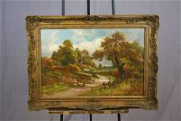 Robert John Hammond oil on canvas landscape