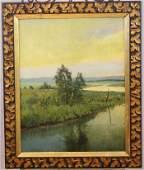 Charles Harry Eaton oil on canvas on masonite