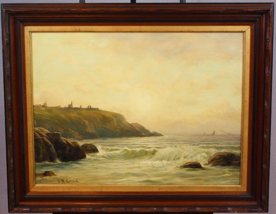 Charles Henry Gifford oil on canvas seascape